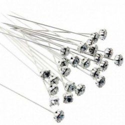 5mm Diamante Corsage Pins - Silver (4cm pin, 36pcs per pk)