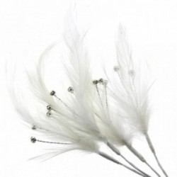 Flutters Feathers - Cream (15cm Long, 3pcs per pack)