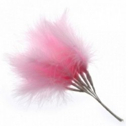 Fluffy Feathers - Pale Pink (24cm Long, 6pcs per pk)
