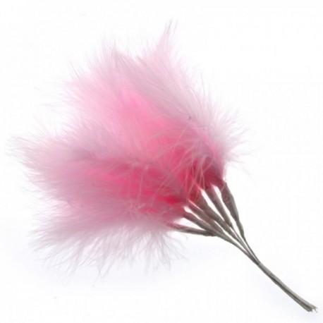 Fluffy Feathers - Pale Pink (24cm Long, 6pcs per pk)