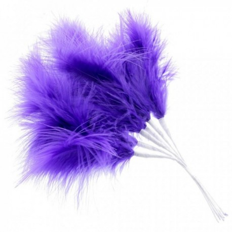Fluffy Feathers - Purple (24cm Long, 6pcs per pk)