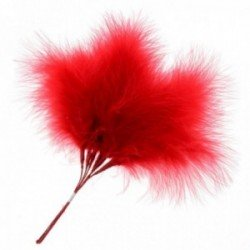 Fluffy Feathers - Red (24cm Long, 6pcs per pk)