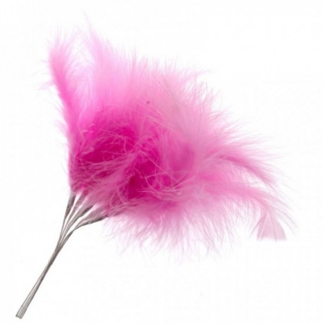 Fluffy Feathers - Hot Pink (24cm Long, 6pcs per pk)
