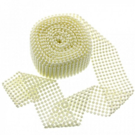 Fancy Pearl Wraps - Cream (6cm x 5yards)