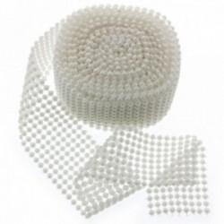 Fancy Pearl Wraps  - White (6cm x 5yards)