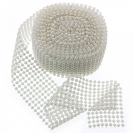 Fancy Pearl Wraps  - White (6cm x 5yards)