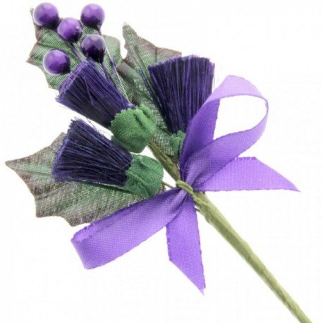 Large Thistle Corsage - Purple (6pcs per pk)