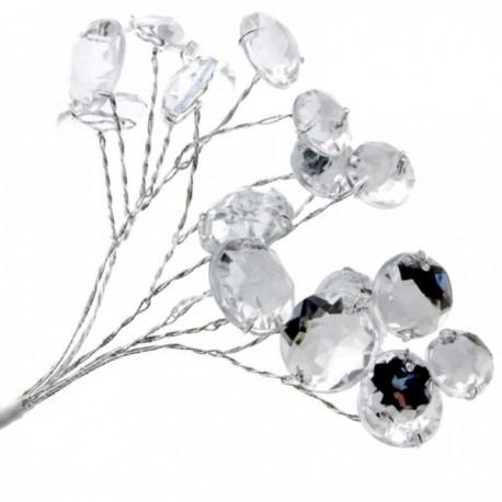 Mixed Mirror Crystals - Silver (3 bunches per pk)