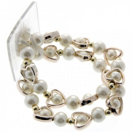 Open Your Heart Corsage Bracelet - Cream