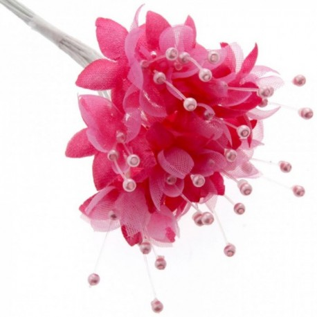 Pearled Baby's Breath - Fuchsia (6 bunches x 12 stems)
