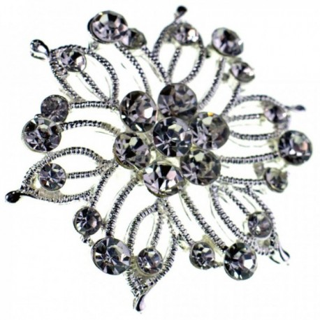 Princess Brooches Fiona - Silver (3.5cm Diameter on 15cm pin)