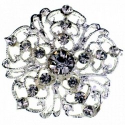 Princess Brooches Belle - Silver (3cm Diameter on 15cm pin)