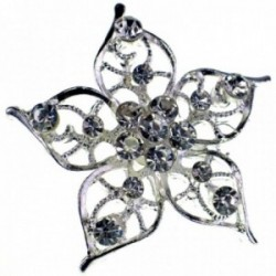 Princess Brooches Elsa - Silver (3.5cm Diameter on 15cm pin)