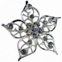 Princess Brooches Elsa - Silver (3.5cm Diameter on 15cm pin)