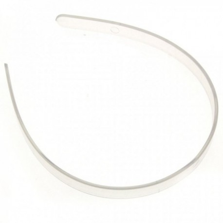 Plastic Headband - Clear (12cm Diameter, 12pcs per pk)
