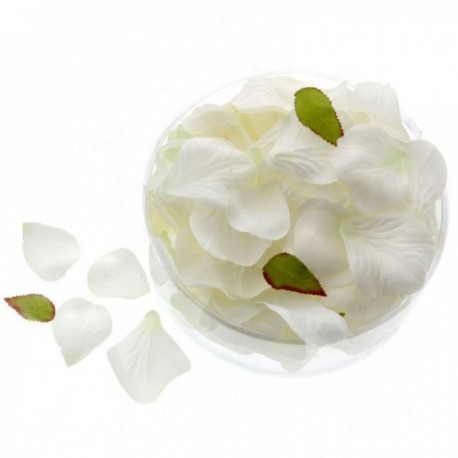 Rose Petals - White/Green (164pcs per pk)