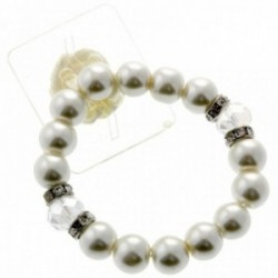 Sunshine Pearl Corsage Bracelet - Cream & Clear