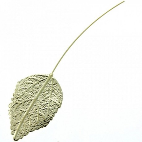 Single Rose Leaf- Gold (13cm Long, 6pcs per pk)