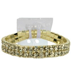 Sophisticated Lady Corsage Bracelet - Gold