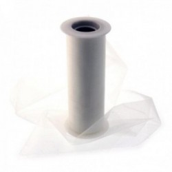 Cut Edge Organza - Cream (15cm x 10m)