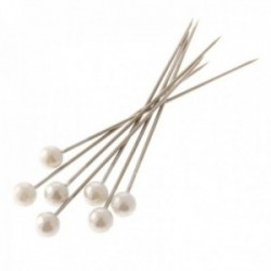 4mm Pearl Headed Corsage Pins - White (4cm Pin, 144pcs per pk)