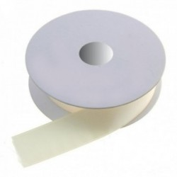 15mm Double Faced Satin - Ivory (15mm x 20m)