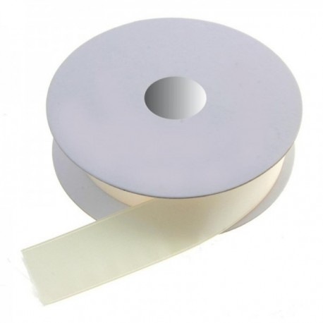 25mm Double Faced Satin - Ivory (25mm x 20m)