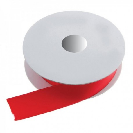 50mm Double Faced Satin - Red (50mm x 20m)