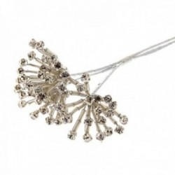 Diamante Stamen Cluster - Silver (10cm Height with 4mm Diamantes, 3pcs per pk)