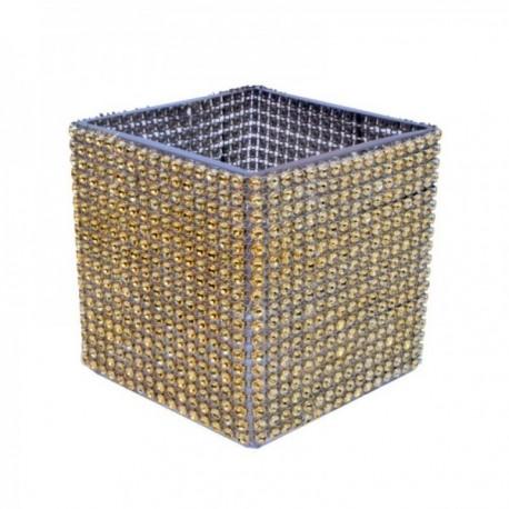 "Versatility Embracer - Gold (Fits 4"" & 5"" Cube Vases & 5"" & 6"" Fish Bowls)"