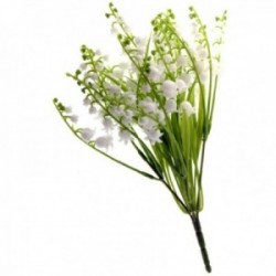 Plastic Lily of the Valley Bush - White & Green (25cm Height)