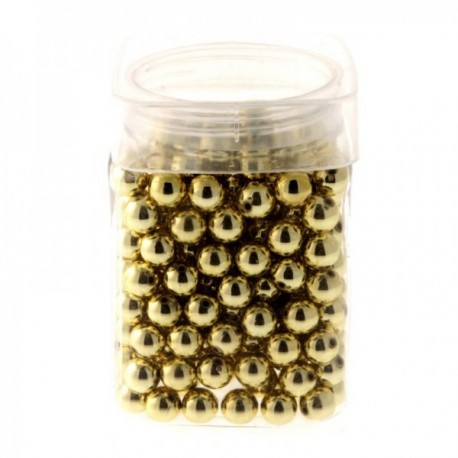 12mm Pearl - Gold (Approx 179 pcs per pk)