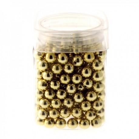 12mm Pearl - Gold (Approx 179 pcs per pk)