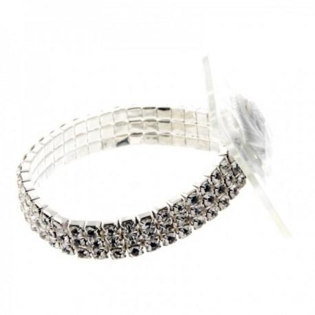 Princess Corsage Bracelet - Silver (2 bracelets per pk)