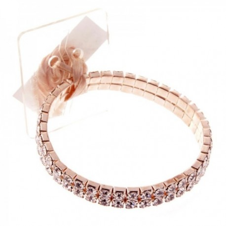 Sophisticated Lady Corsage Bracelet - Rose Gold