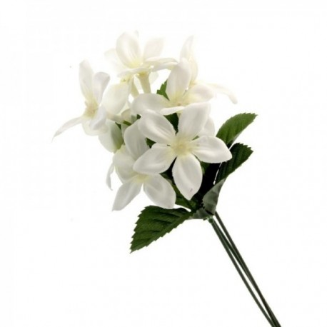 White Satin Stephanotis Artificial Silk Flowers Pack x12 Stems