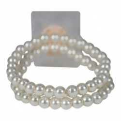 Sweet Pea Corsage Bracelet - Cream (2 bracelets per pk)
