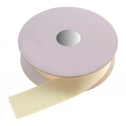 25mm Double Faced Satin - Cream (25mm x 20m)