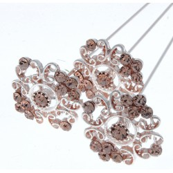 Princess Brooches Tiana - Rose Gold (2cm Diameter, 3pcs per pk)