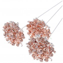 Princess Brooches Merida - Rose Gold (2.5cm Diameter, 3pcs per pk)