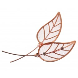 Gleaming Leaves - Rose Gold (12 per pk 6 with rhinestone, 6 without)