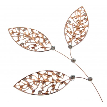 Lacey Leaves - Rose Gold (23cm Long)