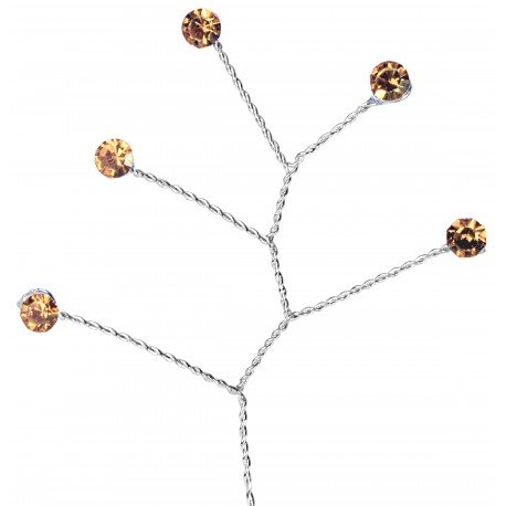 Kara's Kisses Rhinestone Quintet - Rose Gold (5mm Rhinestone, 12 pieces per pack)