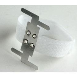 Hook & Loop Corsage Bracelet - White (6pcs per pk)