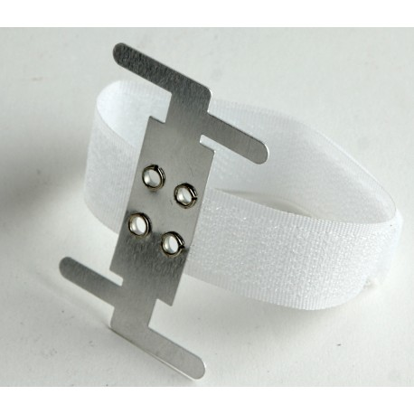 Velcro Corsage Bracelet - White (6pcs per pk)