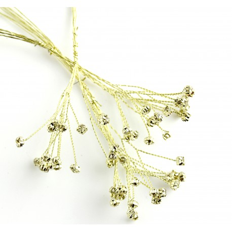 4mm Diamante Branch - Champagne (3bunches x 6 stems per bag)