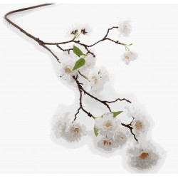 Small Cherry Blossom Spray - White (75cm Long)