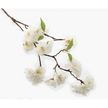 Small Cherry Blossom Spray - Cream (75cm Long)