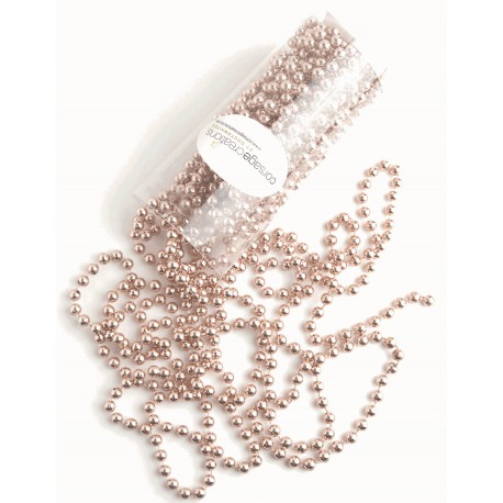 8mm Pearl Bead Chain - Rose Gold (10m)