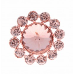 Centre of Attention Brooch Pin - Rose Gold (3cm Diameter, 15cm Pin)